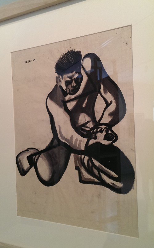 Hari Kari by Jack Keljo Steele, 1945 - Steele served as combat artist in Australia and the South Pacific. He made this ink drawing on the back of Royal Australian Air Force map.